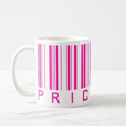 Código de barras inestimable tazas de café