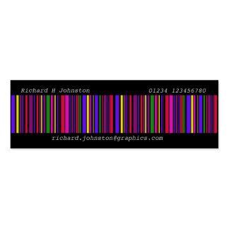 Código de barras moderno del multicolor tarjetas de visita mini