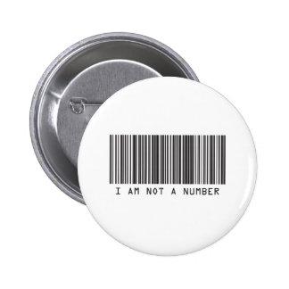 Código de barras - no soy un número pins