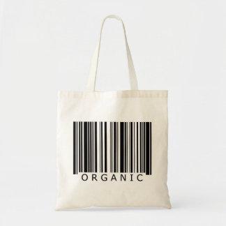 Código de barras orgánico bolsa tela barata