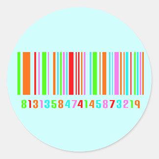 Código de barras pegatina redonda