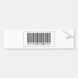Código de barras Phlebotomist Etiqueta De Parachoque