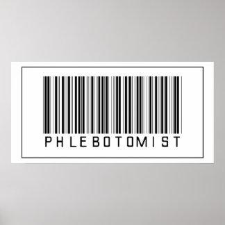 Código de barras Phlebotomist Póster