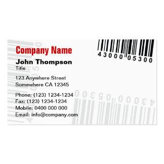 Código de barras plantillas de tarjetas personales