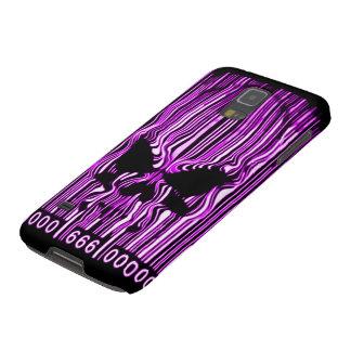 Código de barras púrpura 666 del demonio de carcasas de galaxy s5