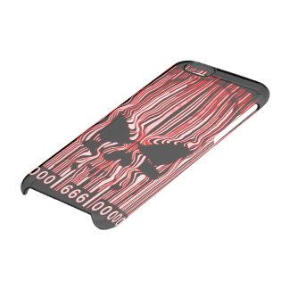 Código de barras rojo 666 del demonio del funda clearly™ deflector para iPhone 6 de uncommon