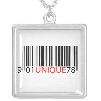 Código de barras - rojo único colgantes personalizados