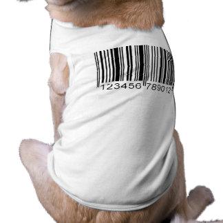Código de barras camisa de mascota