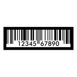 código de barras tarjetas de visita mini