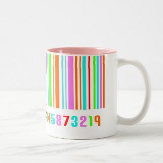 Código de barras taza de café de dos colores