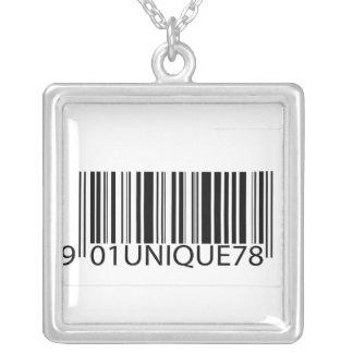 Código de barras-Único Pendiente Personalizado