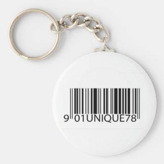 Código de barras - único llaveros personalizados