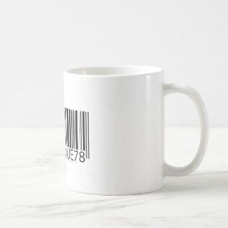 Código de barras - único tazas de café