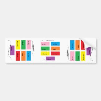 Código de color él - materia del diseñador de pegatina para auto