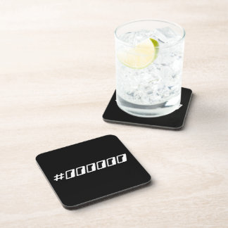 Código de color negro puro del maleficio posavasos de bebidas
