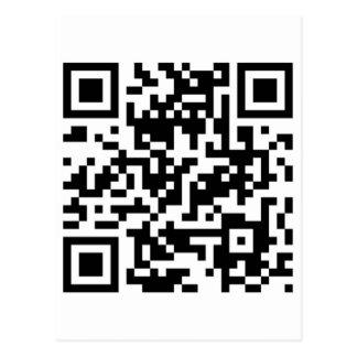 Código de CoroPlanes QR Tarjeta Postal