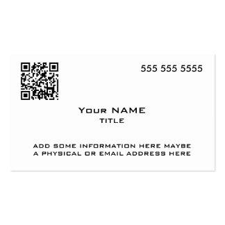 Código de encargo de QR moderno Tarjeta De Visita