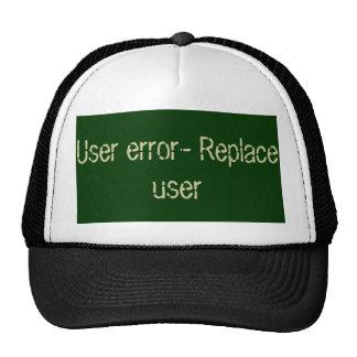 Código de error del usuario gorros