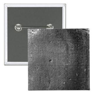 Código de Hammurabi, detalle de la inscripción de  Pin Cuadrado