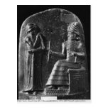 Código de Hammurabi, top del stele Postal