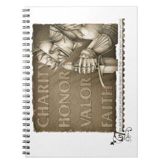 Código de la caballerosidad libros de apuntes con espiral
