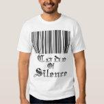 Código de la camiseta del silencio playeras