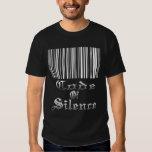 Código de la camiseta (negra) del silencio playeras