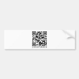 Código de la conspiración QR Etiqueta De Parachoque