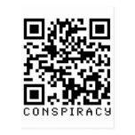 Código de la conspiración QR Tarjeta Postal