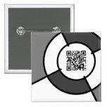 código de la diana QR Pin Cuadrada 5 Cm