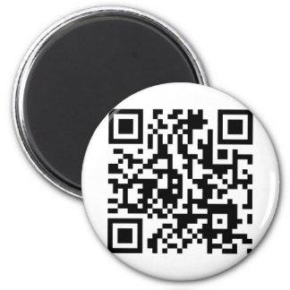 Código de la locura QR de Moondials Imán Redondo 5 Cm