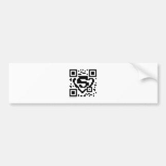 Código de las barras y estrellas QR Etiqueta De Parachoque
