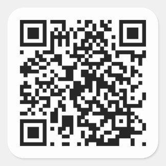 ¡Código de QR al vídeo de RickRoll!!! Pegatina Cuadrada