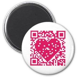 Código de QR - amor Imanes De Nevera