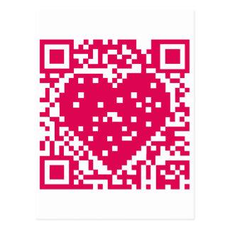 Código de QR - amor Tarjeta Postal