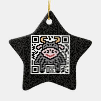 Código de QR el buey Adorno De Cerámica En Forma De Estrella