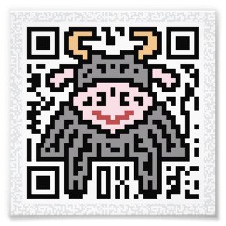Código de QR el buey Fotografia