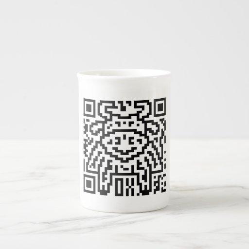 Código de QR el buey Taza De Porcelana
