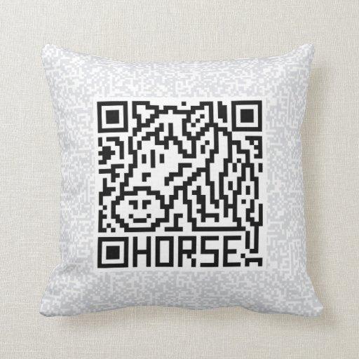 Código de QR el caballo Cojin