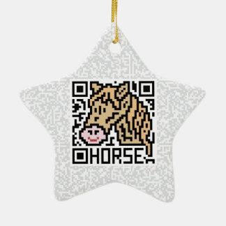 Código de QR el caballo Adorno De Cerámica En Forma De Estrella