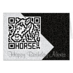 Código de QR el caballo Felicitacion
