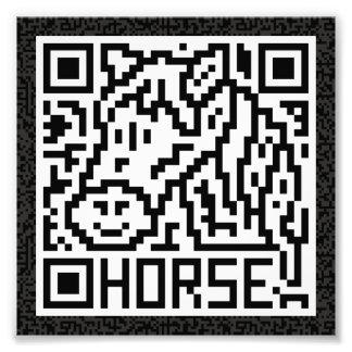 Código de QR el caballo Impresiones Fotográficas