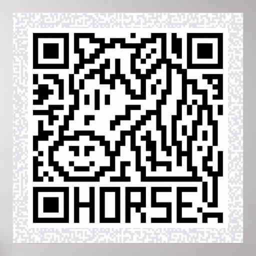 Código de QR el caballo Poster
