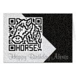 Código de QR el caballo Tarjeta De Felicitación