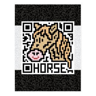 Código de QR el caballo Tarjeta Postal