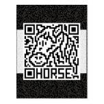 Código de QR el caballo Tarjetas Postales