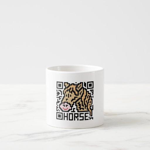 Código de QR el caballo Taza Espresso