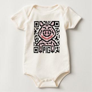 Código de QR el cerdo Mameluco De Bebé
