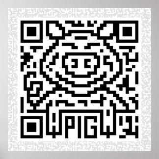 Código de QR el cerdo Posters