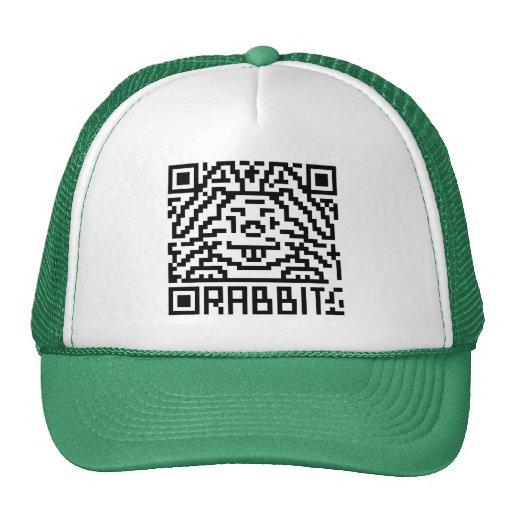 Código de QR el conejo Gorro